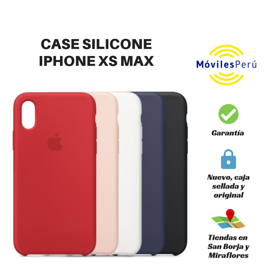 CASE SILICONE IPHONE XS MAX NUEVO, ORIGINAL, TIENDAS FÍSICAS