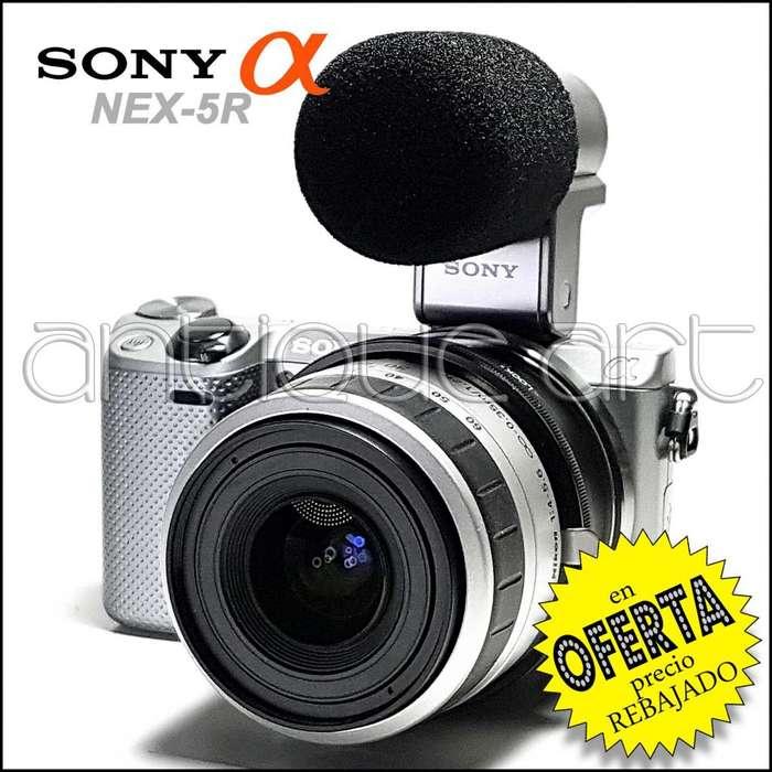 A64 Sony Alpha Nex 5r 30-60mm Microfono Otros O F E R T A !!