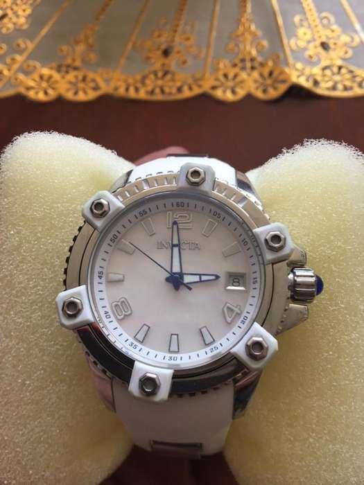 Reloj Invicta Esfera Blanca, Banda de Si