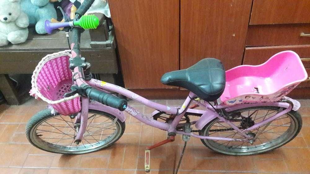 Bicicleta Rodado 20 Barbie
