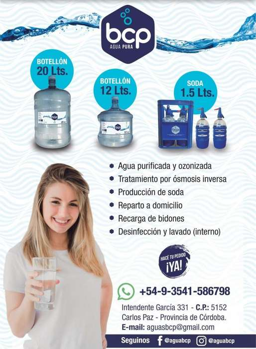 AGUA PURIFICADA Y SODA EN VILLA CARLOS PAZ