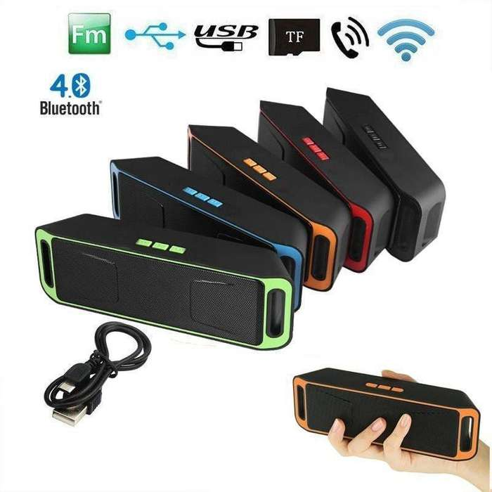 Parlante Bluetooth Radio Fm Micro Sd Usb