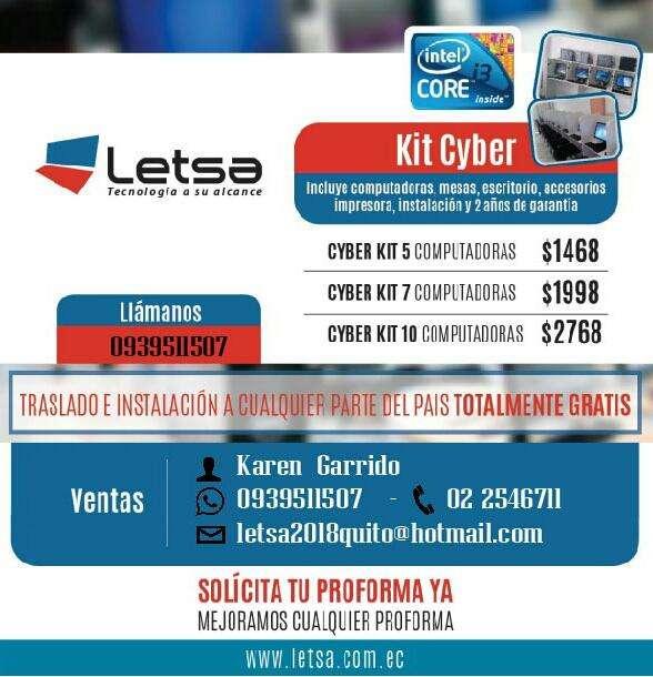 CYBER KIT 1468 CON 5 COMPUTADORAS / LLAMA AL 0939511507