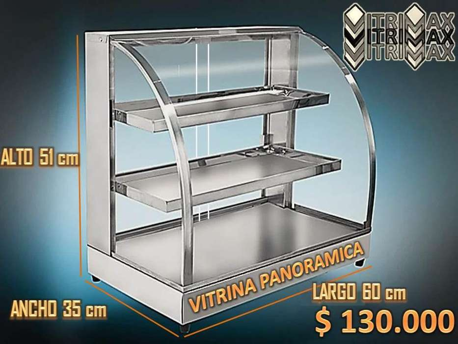 Vitrina Calentadora Electrica Estilo Panoramica Para Comidas Rapidas Y Fritos