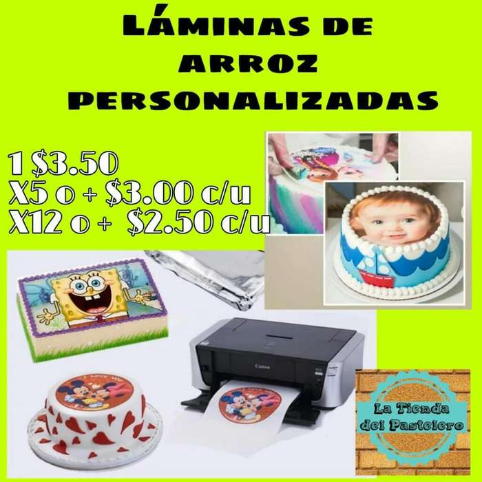 Lamina de Arroz Impresas Full Color