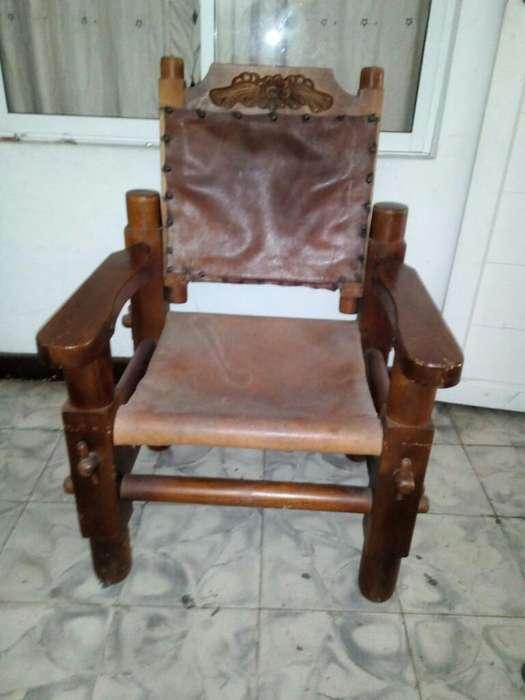 <strong>silla</strong>s Rusticas en Madera Fina Y Cuero