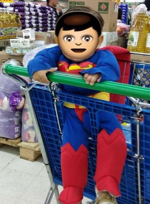 Disfraz Superman con músculos