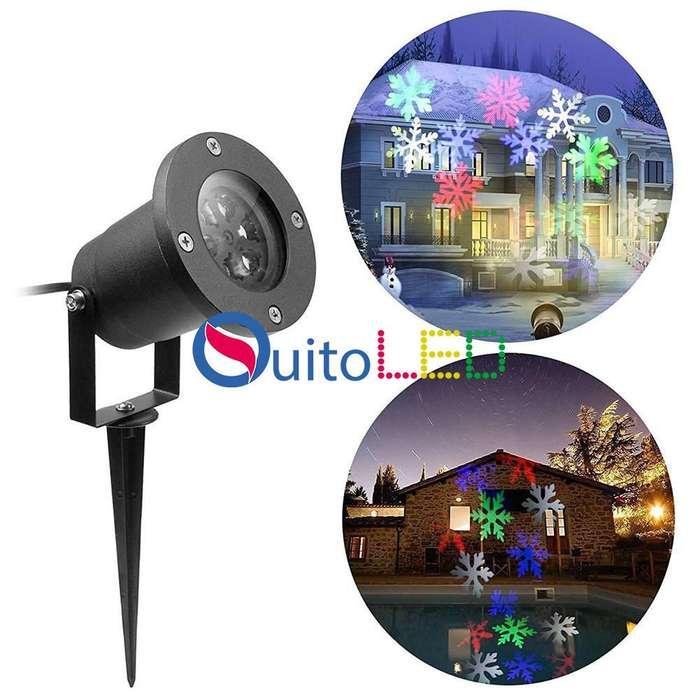 Proyector Laser de luces de figuras de navidad para interiores y exteriores