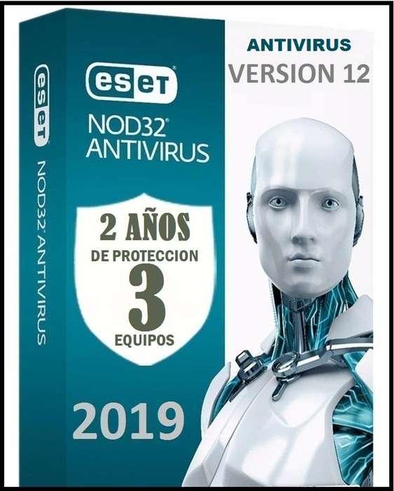 Eset Nod32 Antivirus Licencia original 3 pc 2 Años