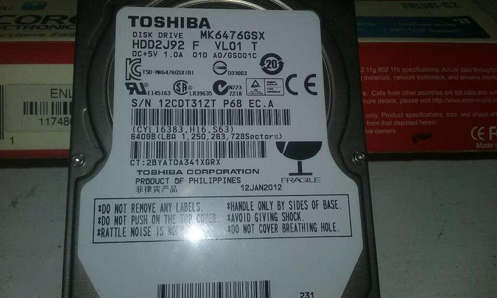 Disco Duro de 500gb Toshiba Bueno