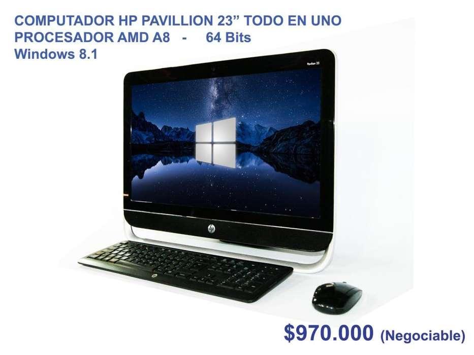 """COMPUTADOR HP PAVILLION 23"""" TODO EN UNO"""