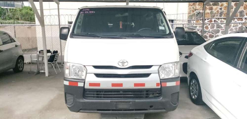 Toyota Hiace 2016 sin Abono Inicial F.p