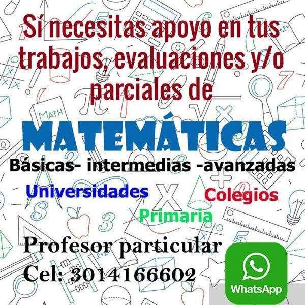 Profesor de matemáticas particular clases Matemáticas Tunja personalizadas, Matemáticas Fácil