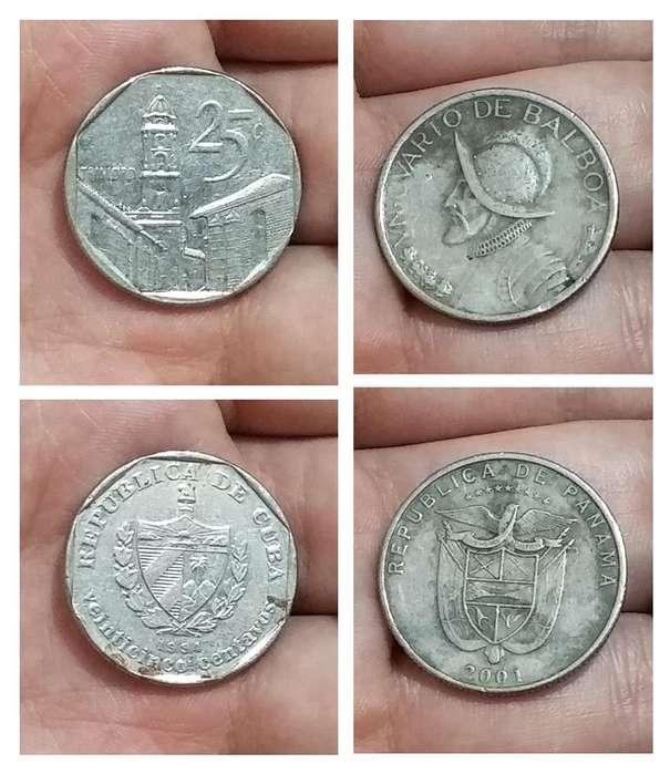 Monedas CUBA y PANAMÁ
