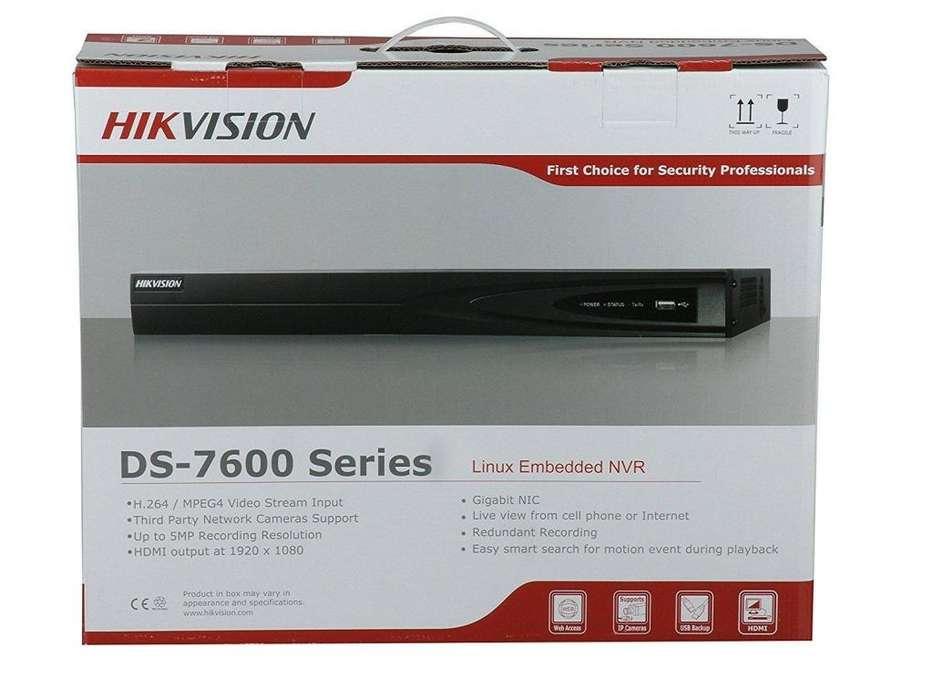 NVR Hikvision DS7600 DS7608NIE2/8P disco duro de 2 TB 8 canales NVR POE HD 1080p Nuevo