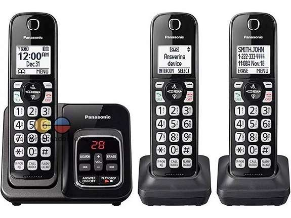 Panasonic Teléfono Inalámbrico 3 Bases Bluetooth Contestador