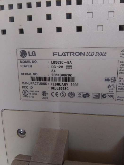 Monitor Lg Flatron Lcd 563le en buen estado