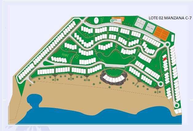 VLL0175A Venta de Lote En Condominio Club Playa Las Palmeras, Cerro Azul