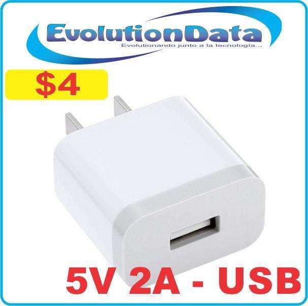 <strong>cargador</strong> Fuente de Poder Adaptador USB 5V 2A