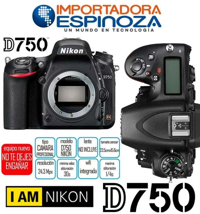 Camara Profesional Nikon D750 Fx Digital Dslr Solo Cuerpo