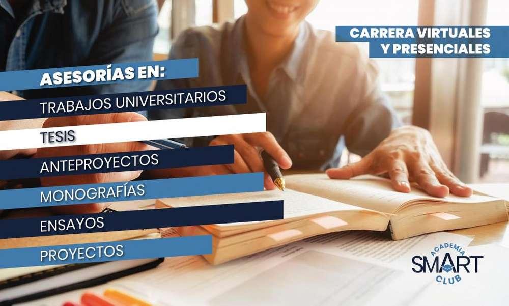 Asesorías en tesis, proyectos y más. Certificados de inglés. Validación bachillerato. Carreras técnicas y más