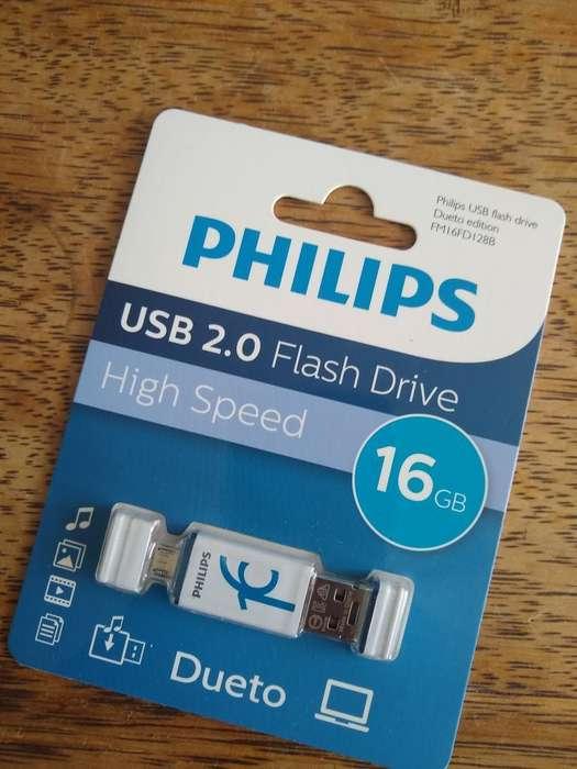 Usb Phillips 16 Gb Dueto