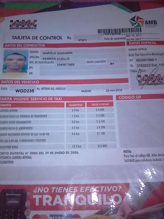 CONDUCTOR -Busco carro particular- Indriver