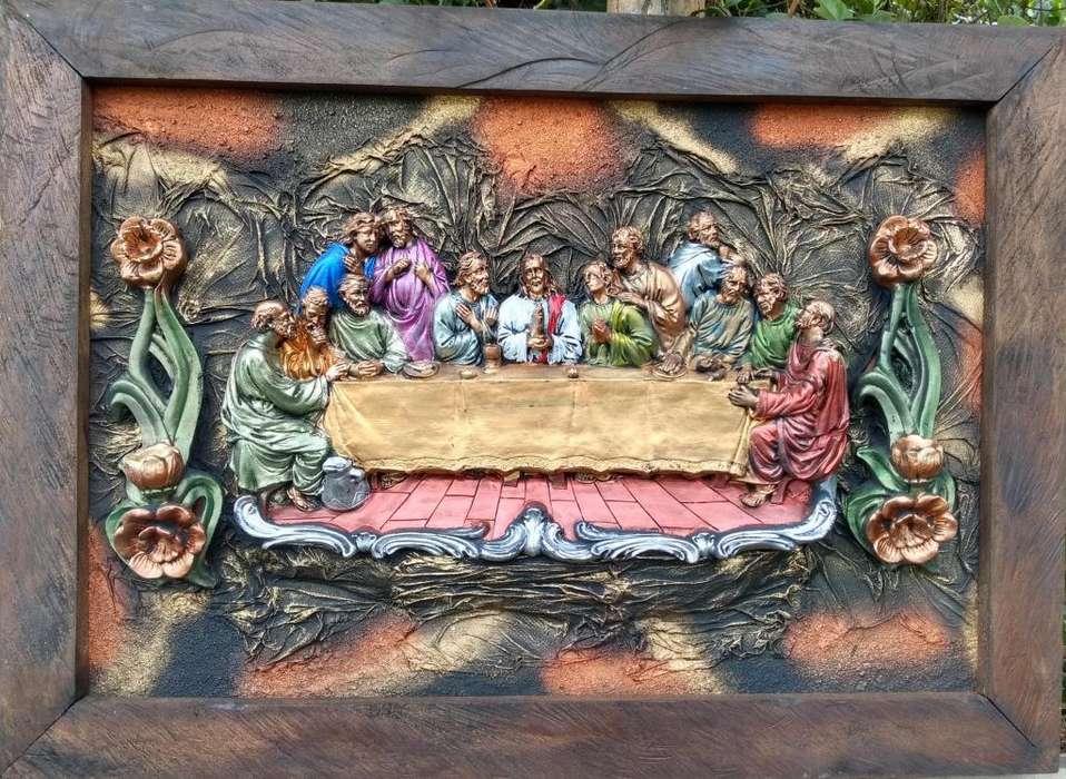 Cuadros artesanales al estilo barroco