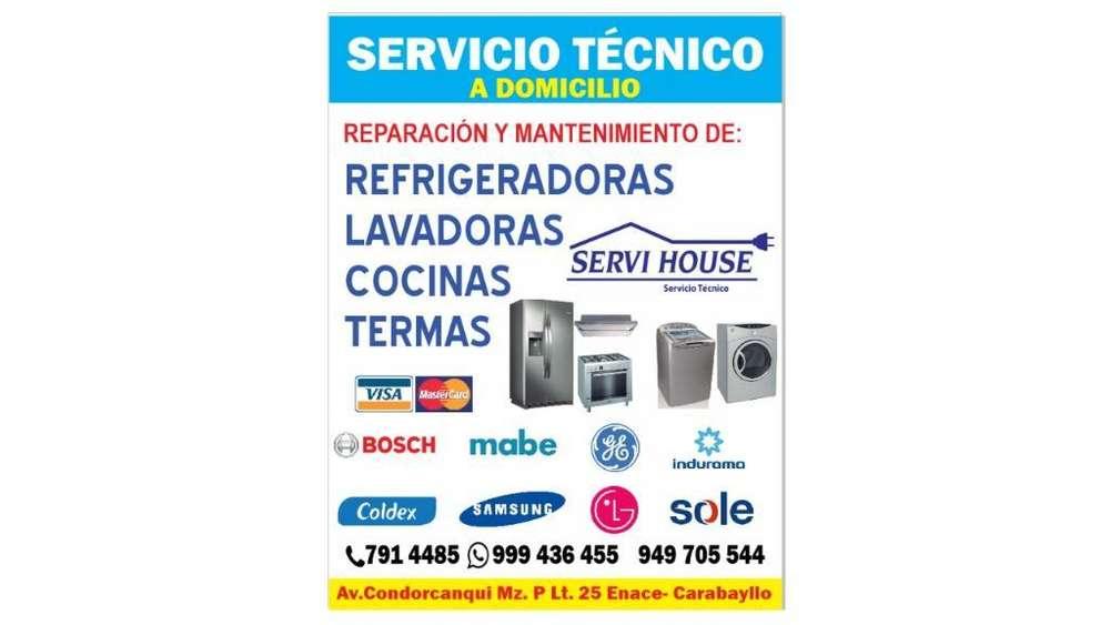 Técnico Refrigeradoras Lavadoras Cocinas