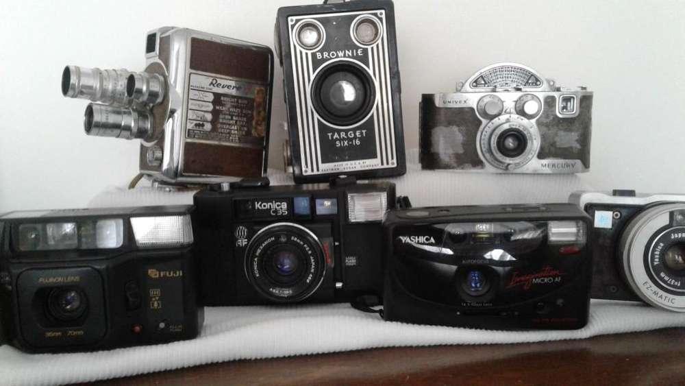 !! CAMARAS FOTOGRAFICAS......Las que están esperando sitio en su apreciadísima colección...!!