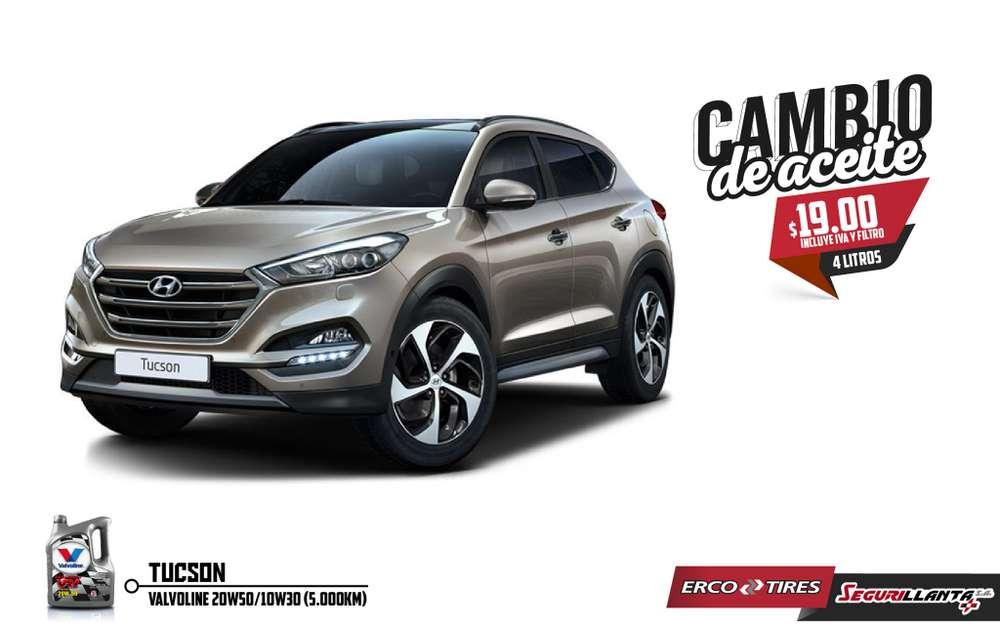 Cambio de Aceite - Hyundai Tucson - Valvoline - Incluye IVA y Filtro.