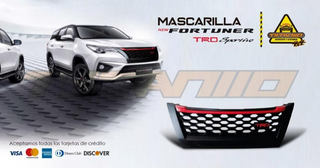 Mascarilla TRD New Fortuner