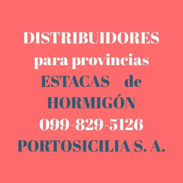Distribuidores depósitos venta materiales de construcción en todo el Ecuador. Estacas de hormigón, Cerramientos