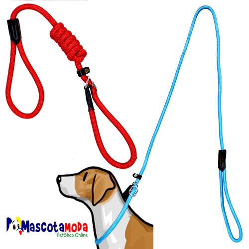 Traillas y collares deportivos en cordon para perros