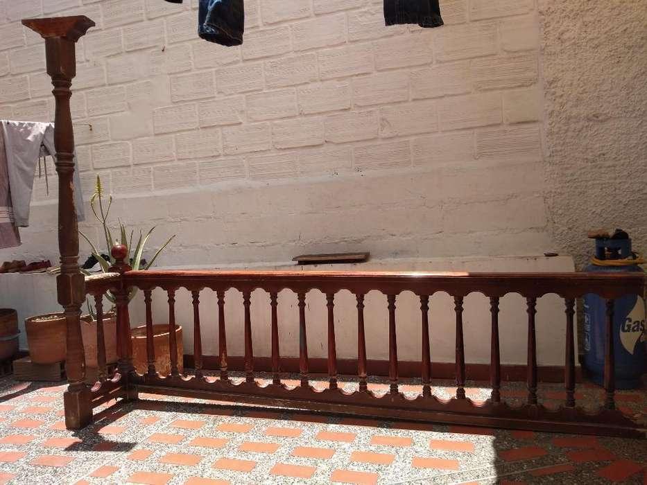Balcon de 2.65 Mts en Madera Teca