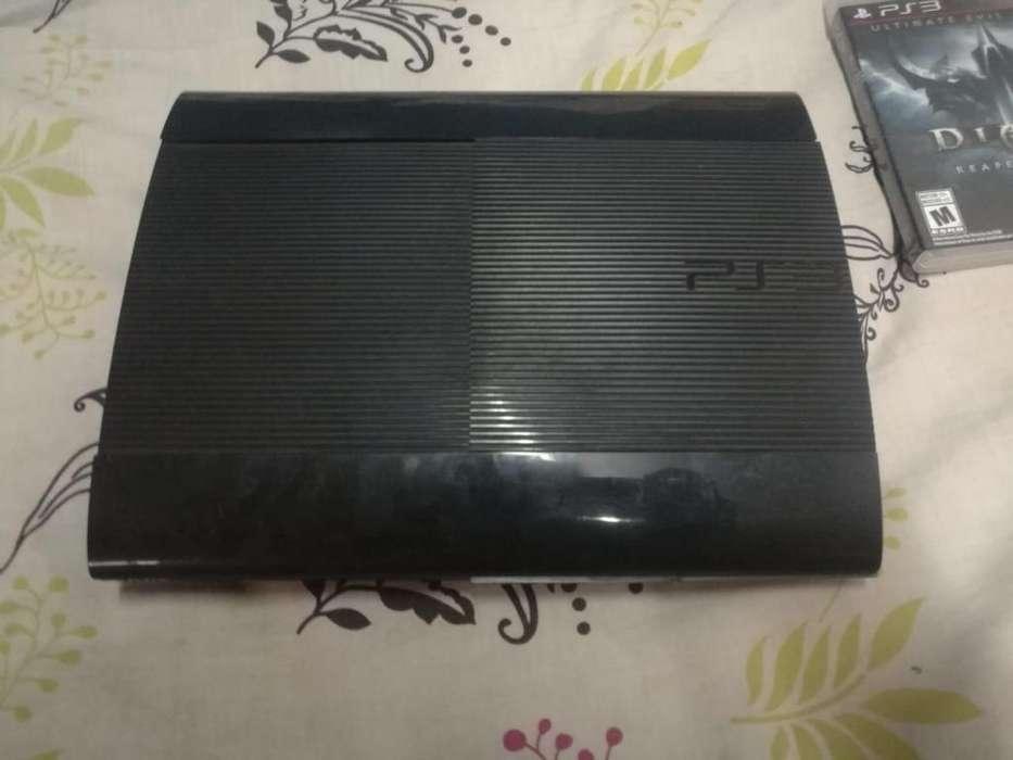 Ps3 - Super Slim 500 GB - Fifa 15, Pes 15, South Park, Diablo, Battlefield. Más mochila Wii