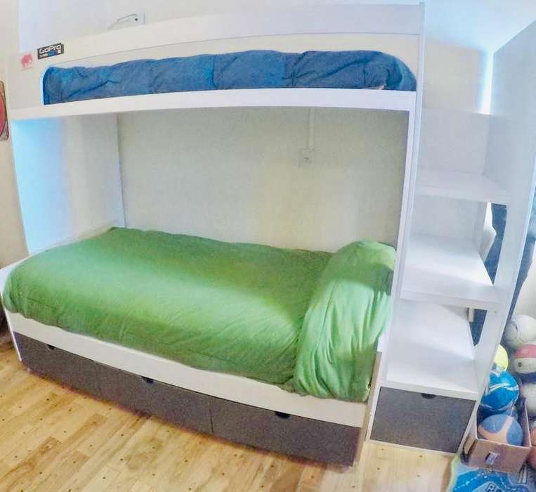 <strong>cama</strong> Juvenil con escalera y 7 cajones
