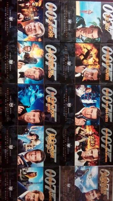 Colección Dvds James Bond - 2 Discos