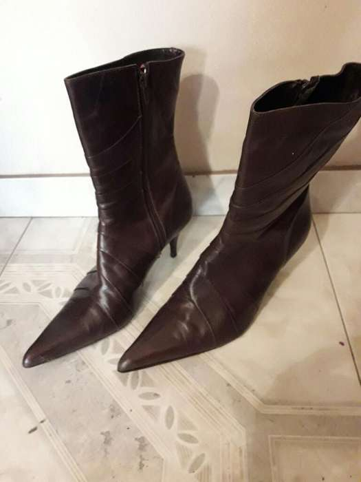 Botas Cuero <strong>mujer</strong> N 38