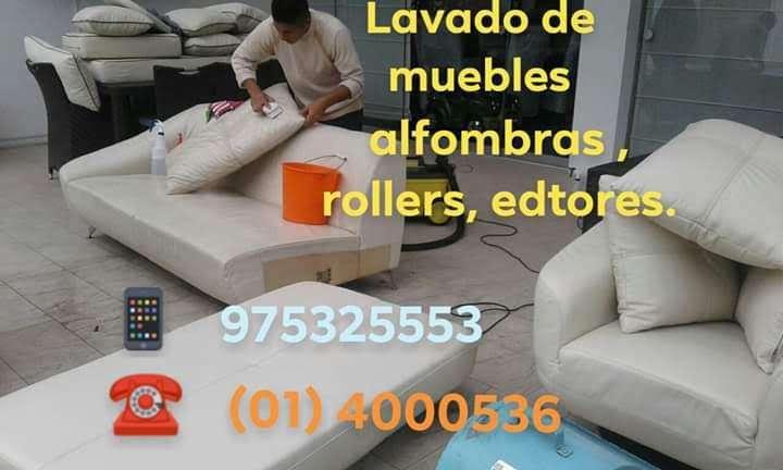 lavado de sillones y muebles a domicilio todo Lima cel 975325553 con equipos karcher de lavado