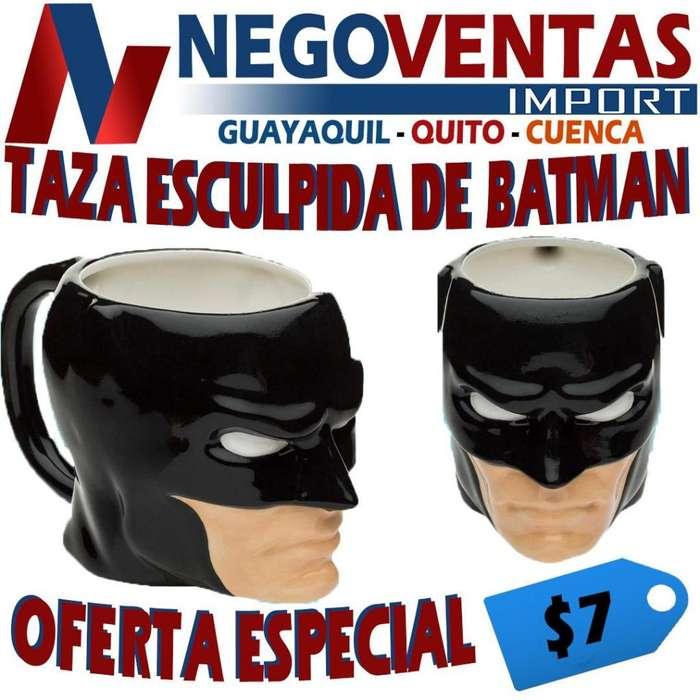 TAZA ESCULPIDA DE BATMAN