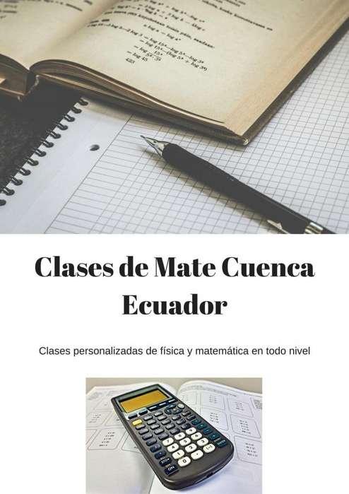 Clases de Mate, Física y Química. Preuniversitario.