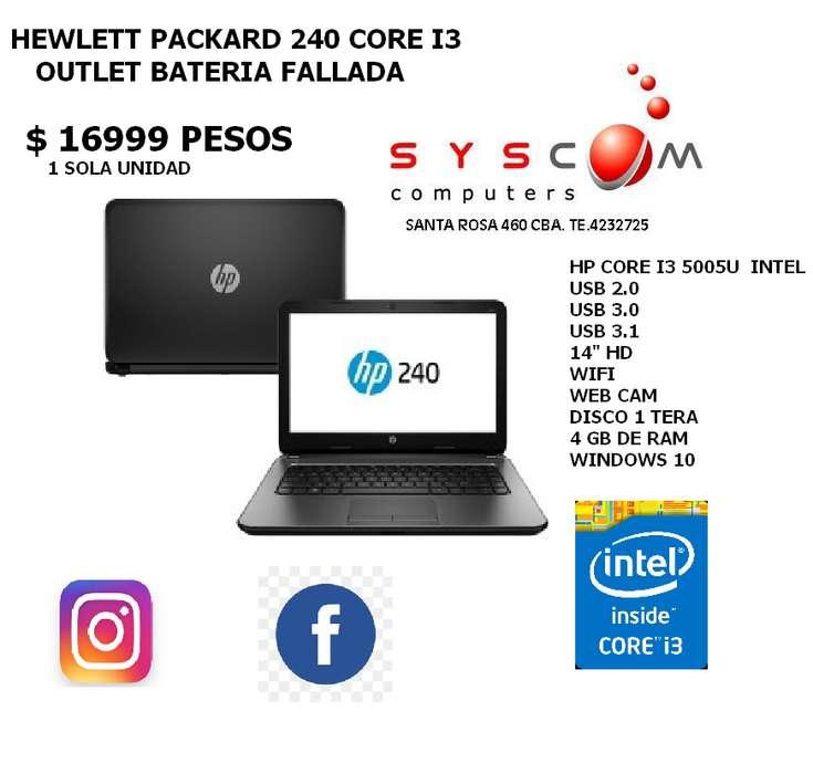 PROMO NOTEBOOK HP CORE I3 1 SOLA EN STOCK