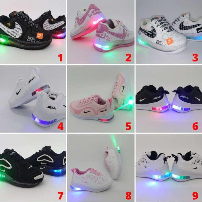 Tenis Zapatillas de Luces y sin Luces para Niños y Niñas Envío Obsequio GRATIS