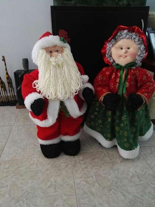 Muñecos de Papa Noel Y Abuelita Noel