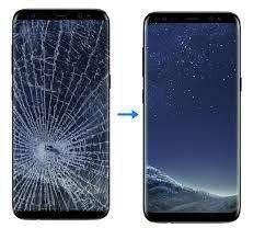 Visor celular Samsung Note 8 Procedimiento en vivo laboratorio maquina nitrógeno