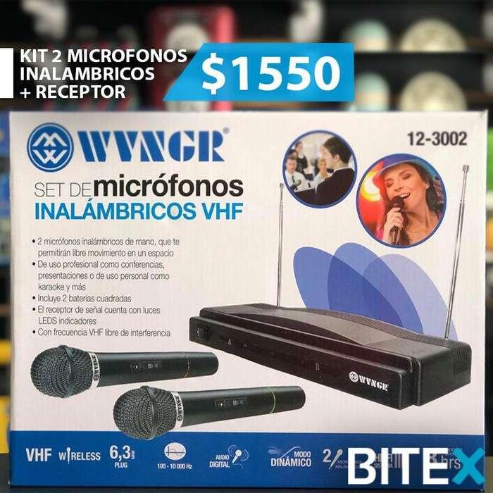 SET DE 2 MICROFONOS INALAMBRICOS