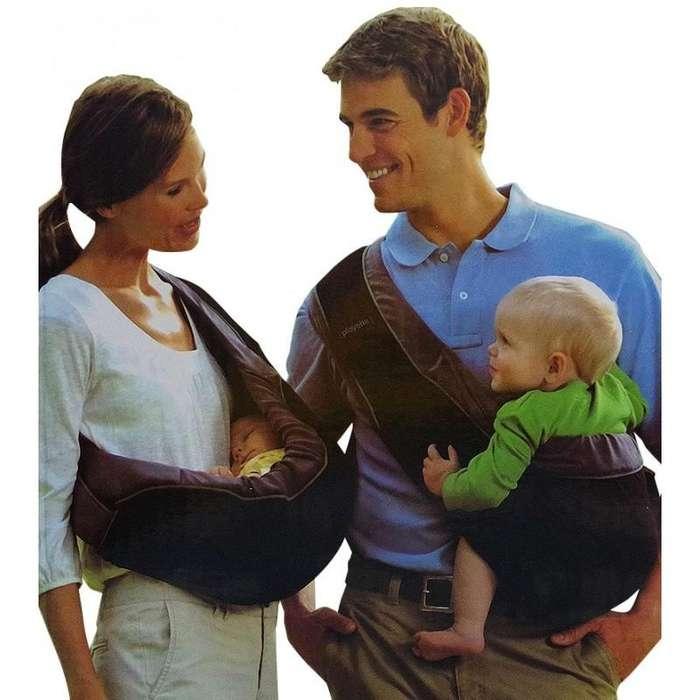 cargador de bebe en media luna