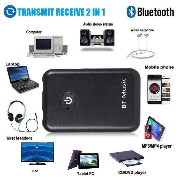 Transmisor Y Receptor Bluetooth 4.2 Audio Estereo Recargable