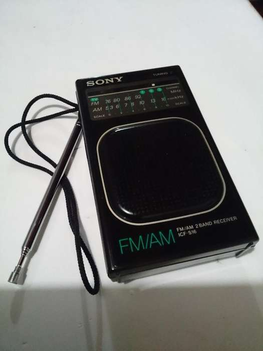 Radio Sony Am Y Fm Tipo Tarjeta Japones*